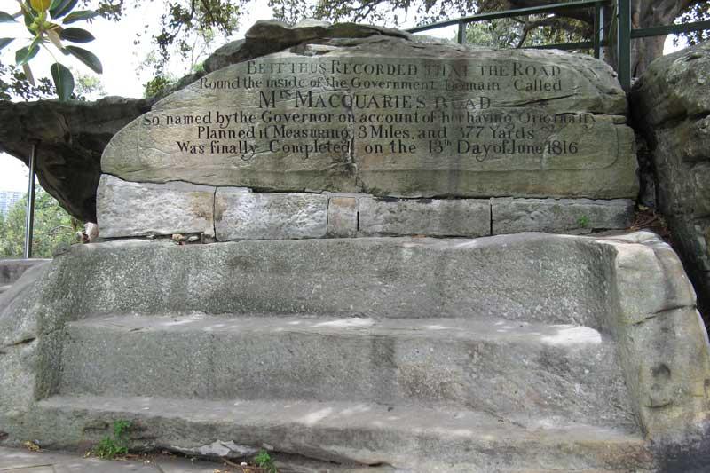 Ghế đá của bà Macquarie