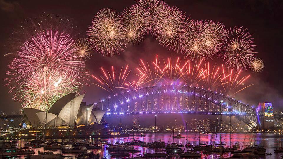 xem pháo hoa tại cầu cảng sydney