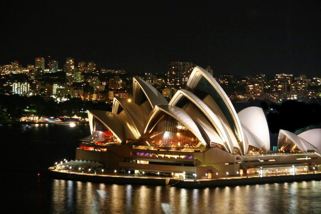 Nhà hát Opera Sydney trong đêm- thành phố Sydney