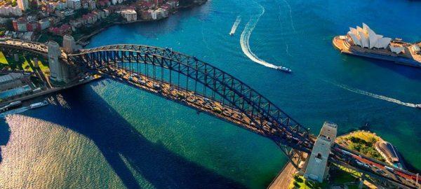 cầu cảng sydney nhìn từ trên cao