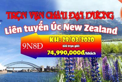 Banner web tour Liên Tuyến Úc New Zealand