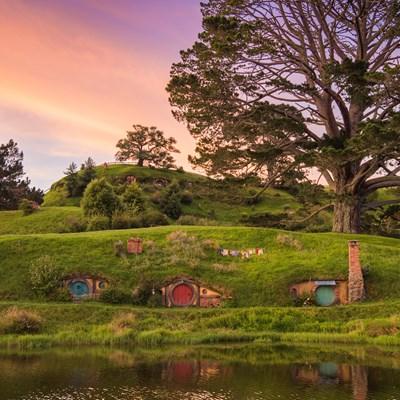 Các hang Hobbit trong làng Hobbiton
