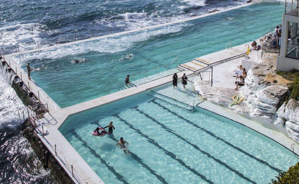 Kết hợp tắm hồ bơi nhân tạo lẫn biển Bondi