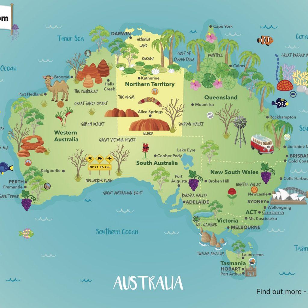 map of australia 2