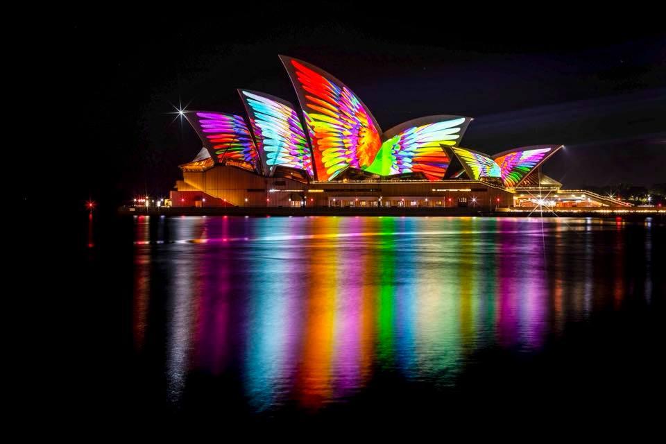 Nhà hát Con Sò Sydney đầy màu sắc